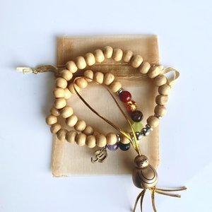 Sidedish Houten Chakra armband Ohm