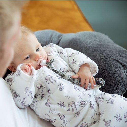 Snoozebaby Geknoopt speenkoord Frost Grey