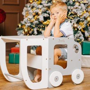 Toddlerinfamily Keuken stap kruk voor peuter / tafel en kruk alles in een