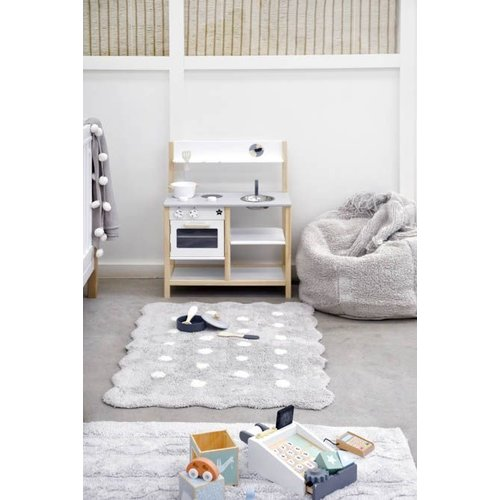 Lorena Canals Washable Rug Mini Biscuit Pearl Grey