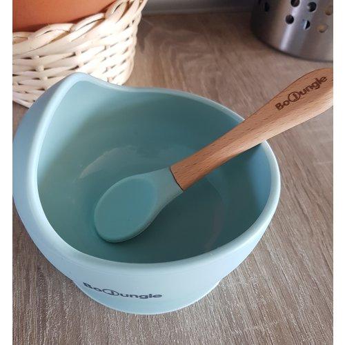 BoJungle B-Suction Bowl & Spoon blue