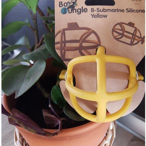BoJungle B-Submarine Silicone Yellow - Bijtring onderzeeer geel