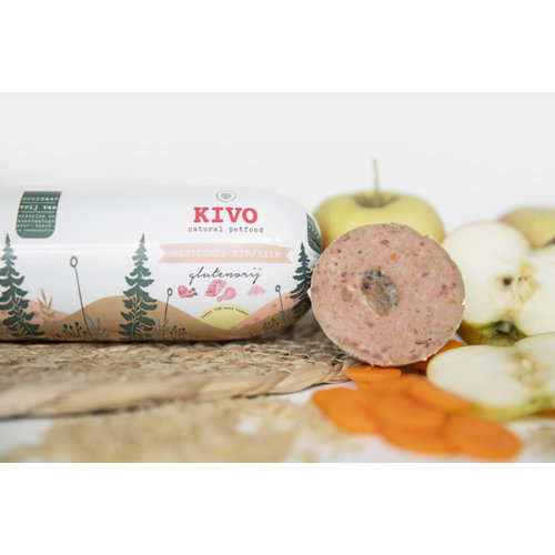 Kivo Gestoomde worst - Kip & Zalm   glutenvrij