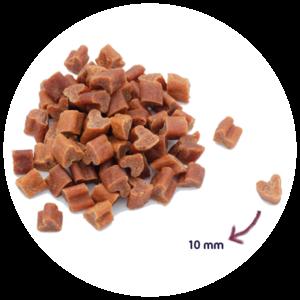 Hond Gezonde Beloning Mini Hartjes Zalm100 gram