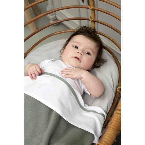 Meyco Babydeken Knit Basic  100 x 150 cm  - Forest green