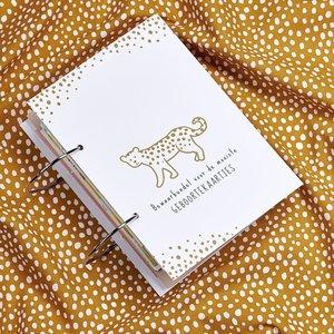 Meyco Geboortekaartjesbundel Cheetah - Honey Gold