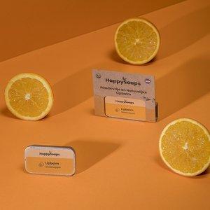 Happy Soaps Happy Lipbalsem in een blikje - Sinaasappel