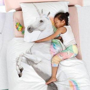 Snurk Unicorn Dekbedovertrek Junior / 1-persoons