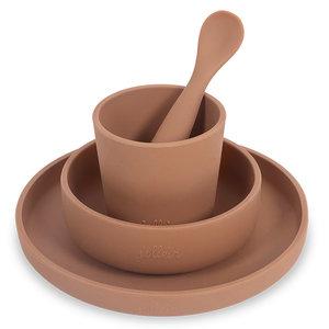 Jollein Kinderserviesset 4-delige  - Silliconen - Caramel