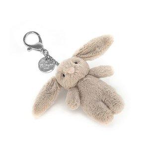 Jellycat  Bashful Bunny Bag Charm Sleutelhanger - Beige