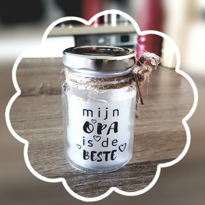 "Paper Dreams Little Star Light met tekst: ""Mijn Opa is de beste"""