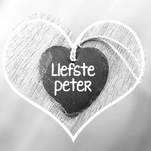 """Paper Dreams Natuurstenen hartje """"Liefste Peter"""""""