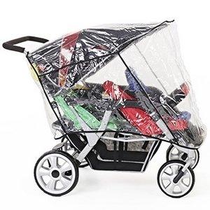 Familidoo Regenhoes voor vierling kinderwagen