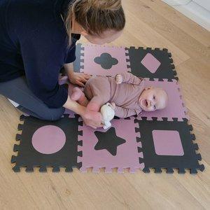 BabyDan Speelkleed-puzzelmat Geomatric Roze