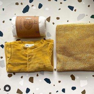 Witlof for Kids Onesie boxpakje ribfluweel - Sweet Honey