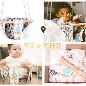 Mada in Lisbon Handgemaakte babyschommel - Baby Fox & Forest