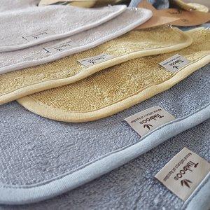 Timboo Organic Bamboo slab met drukknopen - Feather Grey