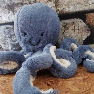 Jellycat  Knuffel Octopus 23cm Odell Octopus Small - Storm  Blauw