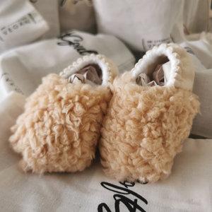 Koda Baby Bear Slipper - babyslofjes met wool look