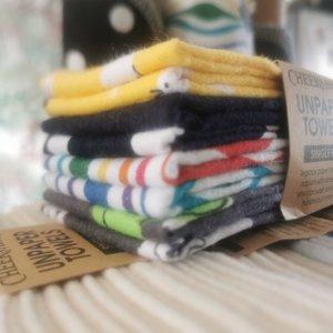 Cheeks Ahoy Unpaper Towels, Wasbare Wipe doekjes effen - multicolor