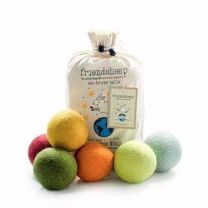 Friendsheep 100% natuurlijke drogerbollen in een bio-katoenen waszakje - 6 stuks