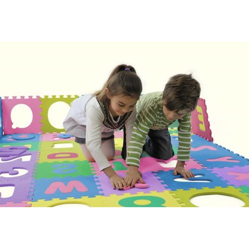 Playshoes Zeer groot Speelkleed-puzzelmat van EVA schuim. Alfabet