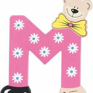 Playshoes De letter M - houten plakletter beer