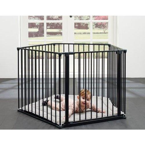 BabyDan Flexpark Olaf Pentagon Zwart/ haardhek - box