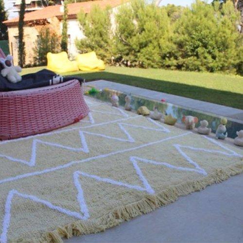 Lorena Canals Wasbaar tapijt Hippy Soft Yellow