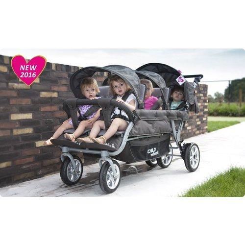 Childwheels Sixseater wandelwagen om 6 kinderen mee te vervoeren