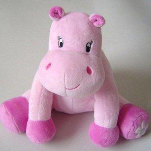 Grote Nijlpaard knuffel roze
