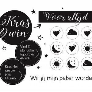 Kraskaart Peter Black&White - Wil je mijn Peter worden?