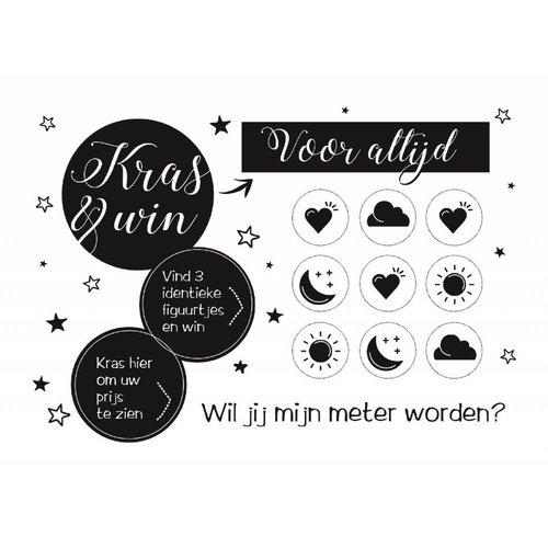 Minimou Kraskaart Meter Black&White - Wil je mijn meter worden?
