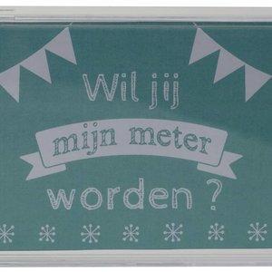 Transparante spaarpot Wil jij mijn Meter worden ?