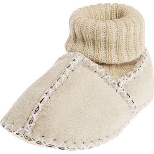Playshoes Winterslofjes van lamsleder Ecru