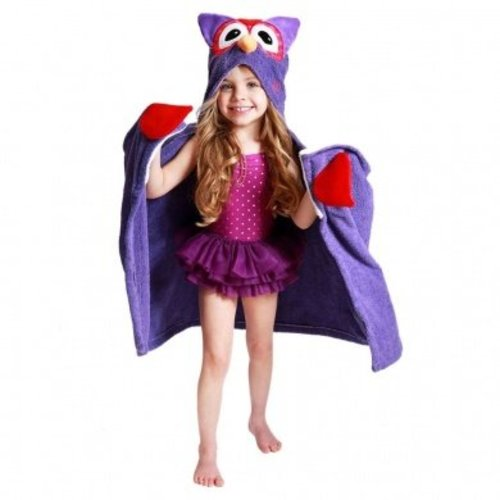Zoocchini Kids badcape - Olive the Owl