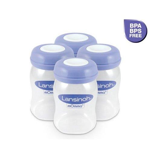 Lansinoh Bewaarflesjes voor moedermelk 4x160ml