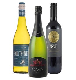 House wines tasting package - White + Cava + Red