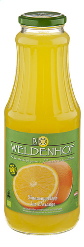 Weldenhof BIO - Orange juice - 6 x 1 L (NEW) - PROMO5+1L GR