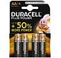 Duracell Power Plus Alkaline AA /LR6 - blister 4