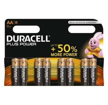 Duracell Power Plus Alkaline AA /LR6 - blister 8