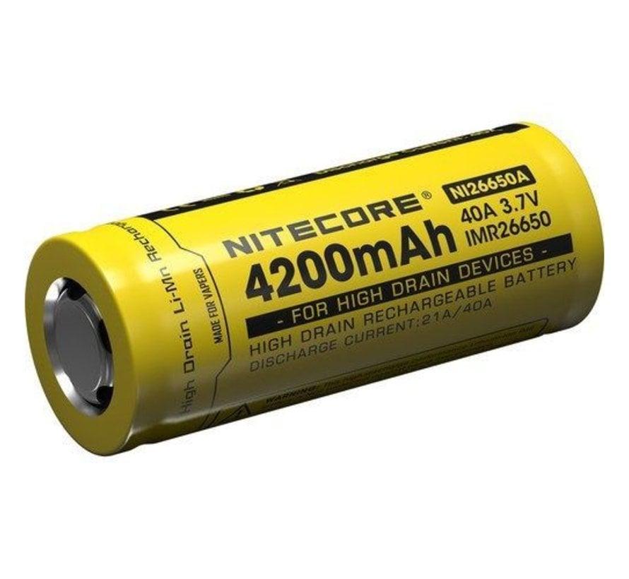 Nitecore IMR26650A Li-ion batterij 4200mah box 1