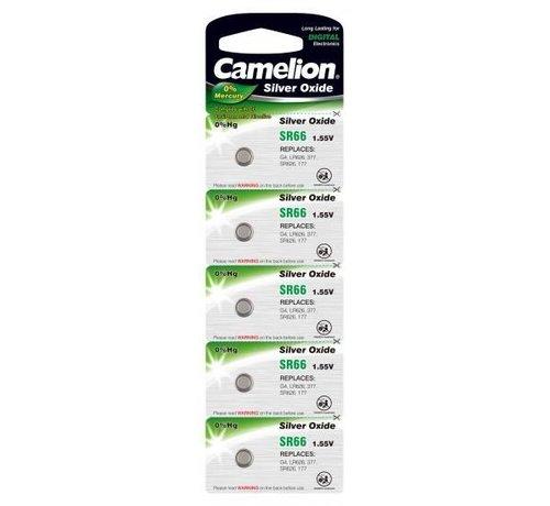 Camelion horloge batterij Silver Oxide SR66W/377 blister 5
