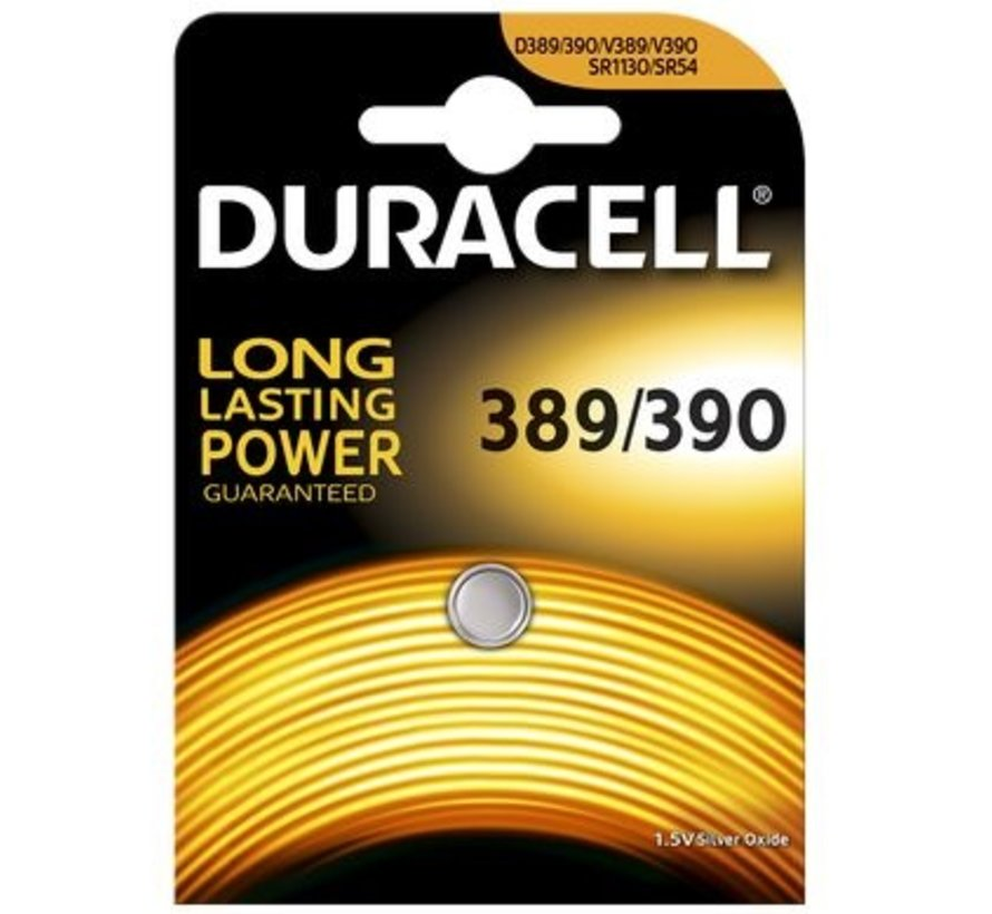 Duracell Silver Oxide D389 blister 1