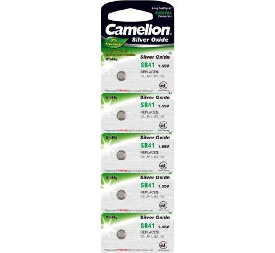 Camelion horloge batterij Silver Oxide SR41W/392 blister 5