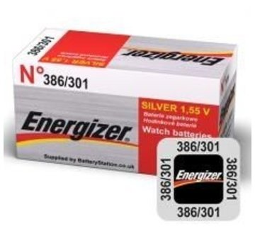 Energizer Silver Oxide 301/386 blister1