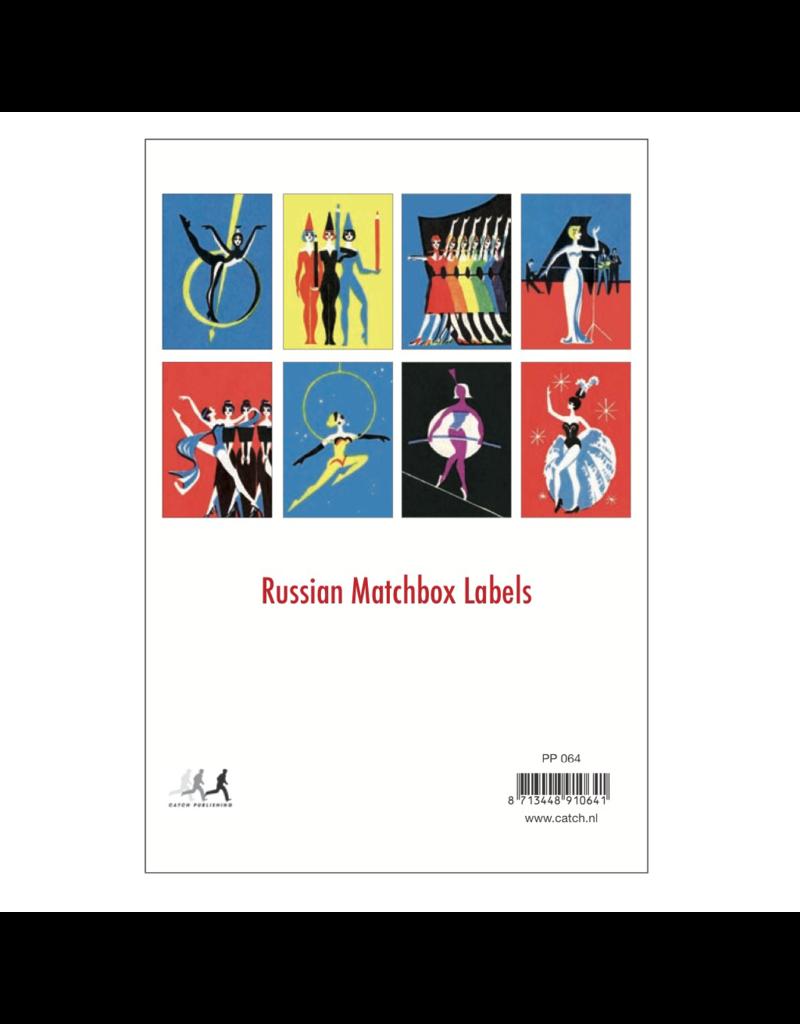 Russian Matchbox Labels Postcard Pack