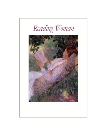 Reading Woman Postcard Pack