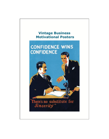Vintage Business Motivational Posters Postcard Pack