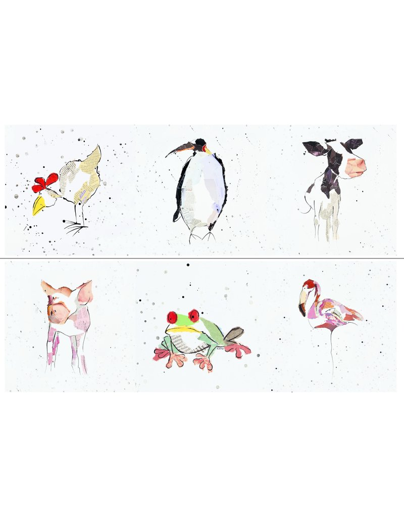 Set of 6 Animal Magic Coasters by Kate Moore